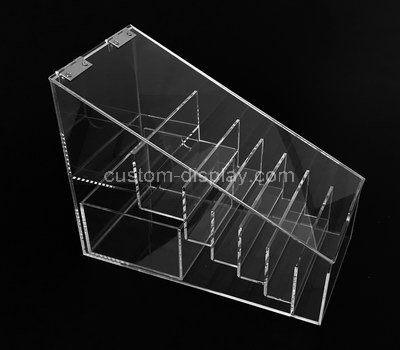 Custom 7 grids acrylic organizer box