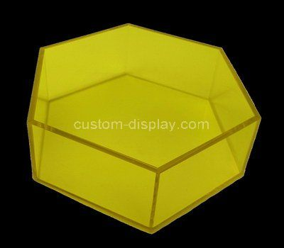 Custom hexagon acrylic box