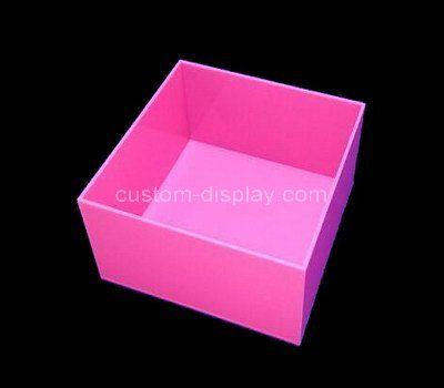 Custom pink acrylic storage box