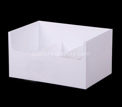 Custom white acrylic organizer box