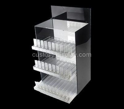 Custom retail acrylic display cabinet with shelves