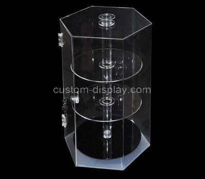 Custom hexagon acrylic cabinet
