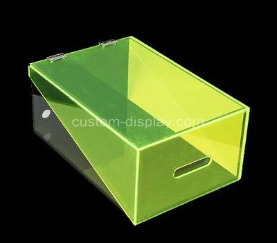 Custom green acrylic shoe box