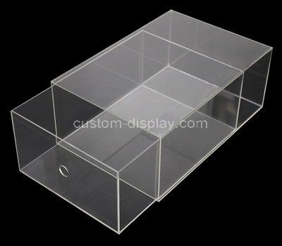 Custom clear acrylic shoe drawer box
