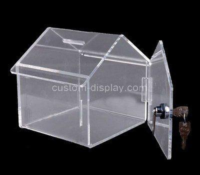 Custom house shape acrylic donation box