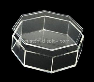 Custom Octagon acrylic storage box