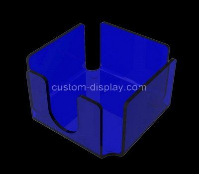 Custom blue acrylic notepaper holder box