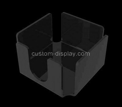 Custom black acrylic notepaper holder box