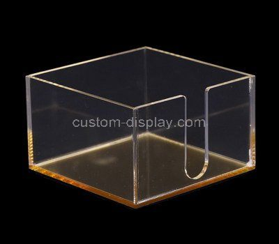 Custom clear acrylic note paper holder box