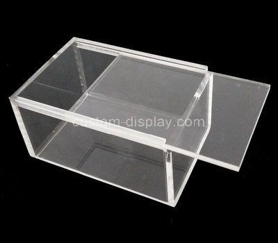 Custom clear acrylic sliding lid box