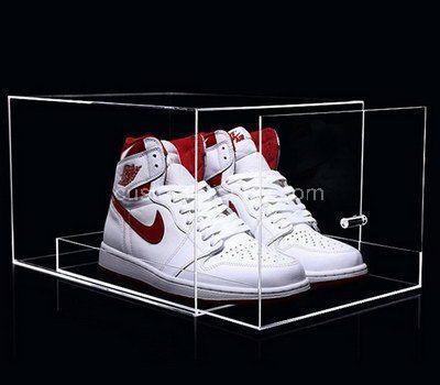 Custom clear acrylic shoe box