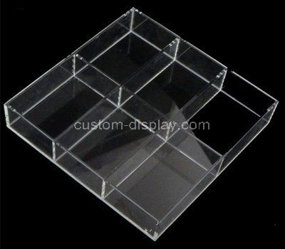 Custom 6 grids clear acrylic box