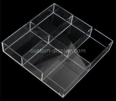 Custom 6 grids clear acrylic box