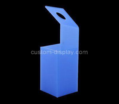 Custom blue acrylic flower box