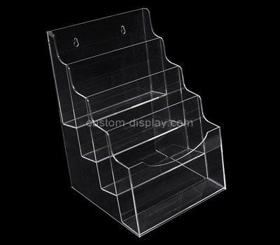 Custom wall 4 tiers clear acrylic brochure holder