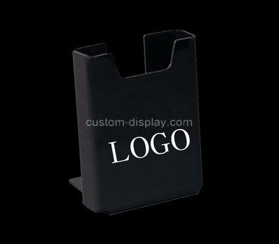 Custom table top black acrylic pamphlet holder