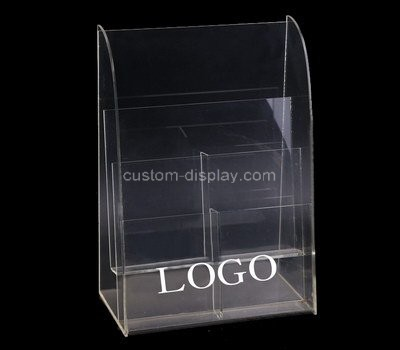 Custom table top 6 pockets acrylic pamphlet holder