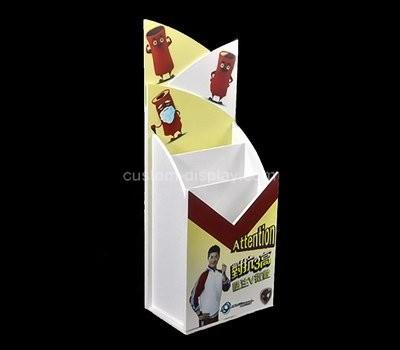 Custom vertical acrylic pamphlet holder