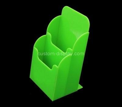 Custom green acrylic 2 pockets pamphlet holder