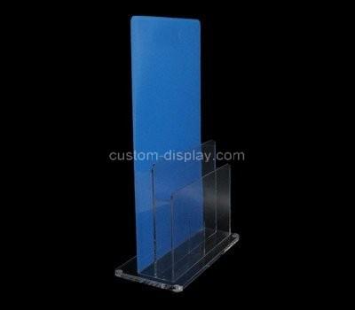 Custom vertical 2 pockets acrylic pamphlet holder