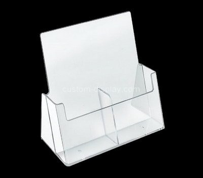 Custom table top 2 pockets acrylic pamphlet holder