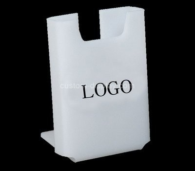 Custom white acrylic literature holder