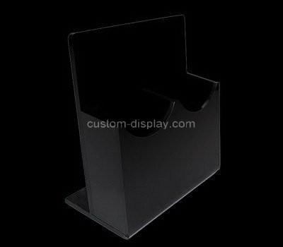 Custom black acrylic pamphlet holder