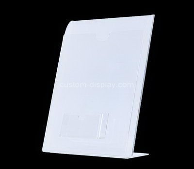 Custom acrylic pamphlet holder with business card holder
