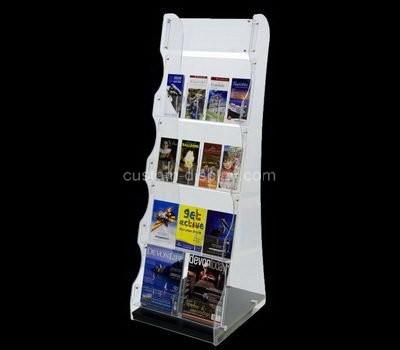 Custom 5 tiers acrylic pamphlet display racks