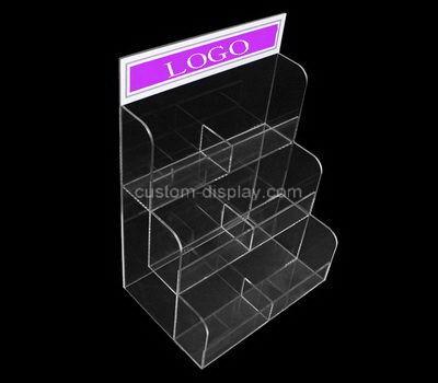 Custom 6 pockets acrylic pamphlet holder
