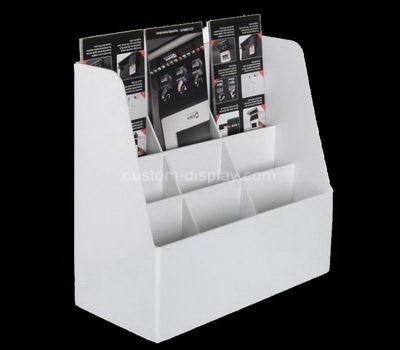 Custom 9 pockets acrylic pamphlet holder
