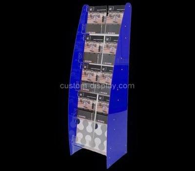 Custom multi tiered floor standing acrylic pamphlet holders
