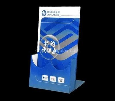 Custom 2 pockets acrylic pamphlet holders