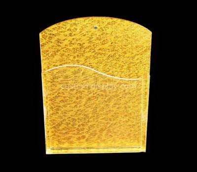 Custom wall gold acrylic pamphlet holder