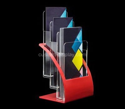 Custom table top 3 pockets acrylic pamphlet holder