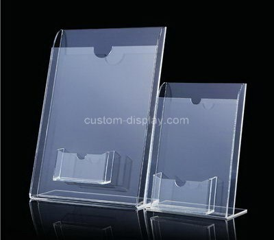 Custom acrylic pamphlet holder with bussiness card holder