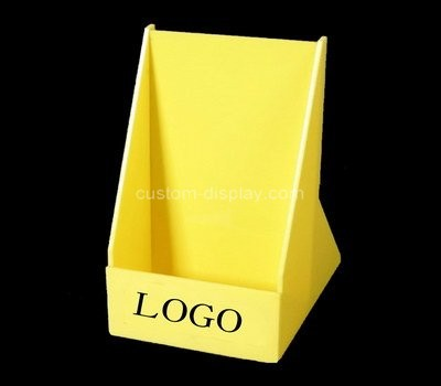 Custom yellow acrylic pamphlet holder
