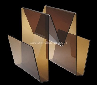 Custom w shape acrylic magazine holders