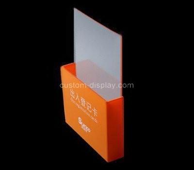 Custom vertical acrylic cards holder