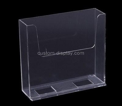 Custom vertical acrylic magazine holder