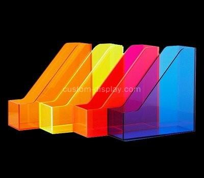 Custom vertical color acrylic magazine holder