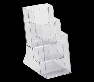 Custom wall 3 tiers acrylic pamphlet holder