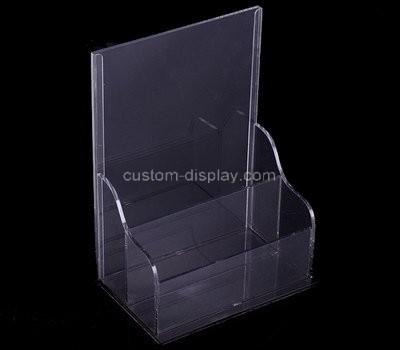 Custom 2 pockets acrylic literature holder