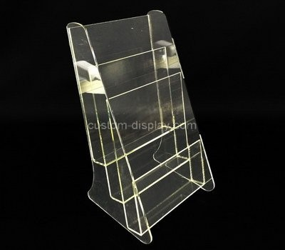Custom 3 tiers acrylic literature holder