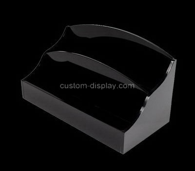 Custom 2 tiers black acrylic literature holder