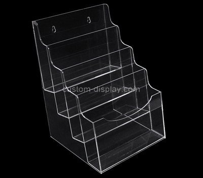 Custom wall 4 tiers clear acrylic leaflet holders