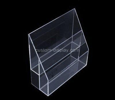 Custom 2 tiers clear acrylic leaflet holders