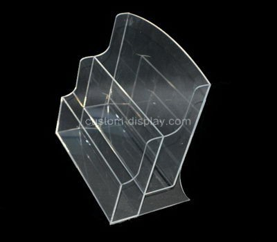 Custom table top 2 tiers clear acrylic leaflet holders