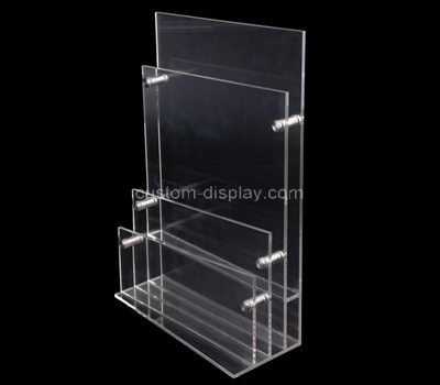 Custom table top vertical 3 tiers clear acrylic leaflet holders