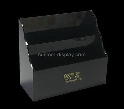 Custom counter top 2 tiers black acrylic leaflet holders